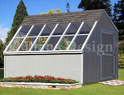 10' x 12' Greenhouse Nursery Garden Shed Plans, Material List Included #41012