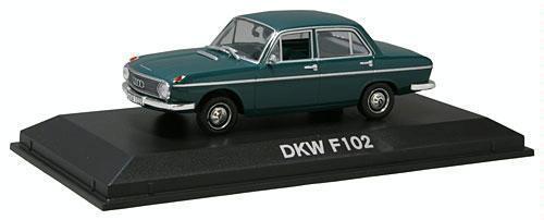 DKW F102 4-doors  Grün  1965 (Norev 1 43   820320)