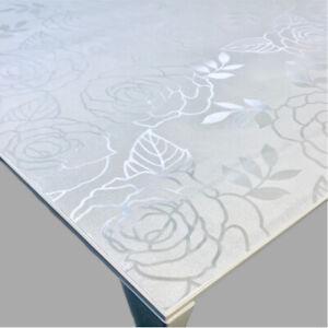 Tischfolie Tischdecke Schutzfolie Mit Muster 1mm Transparent Klar Weich Pvc 17 Ebay