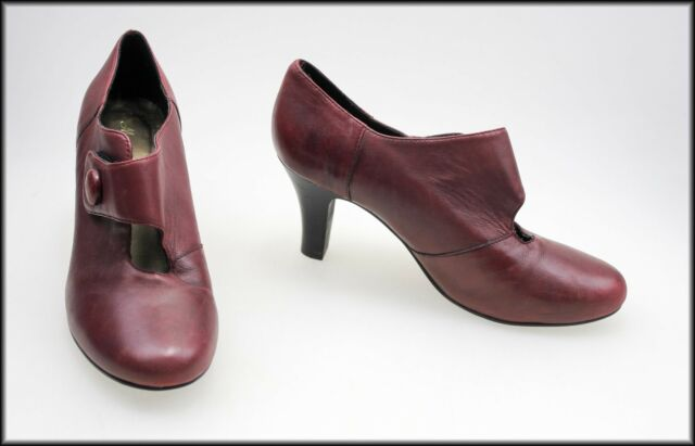 MARTINI MARCO WOMEN'S BURGUNDY HIGH HEELS SHOES SIZE 6 AUST 37 EUR NEW
