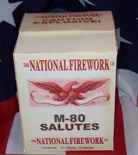 NATIONAL FIREWORK CO. M-80 SALUTES HISTORICAL FIRECRACKER BOX REPLICA