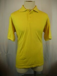7346fbc492a5ec Mens George Martin Cotton Yellow SS Golf Polo Casual Shirt sz M