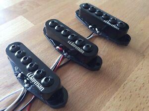 warman guitars 6 gauges hi gain single coil pickups matched set of 3 in black ebay. Black Bedroom Furniture Sets. Home Design Ideas