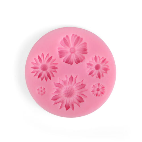 Silicone Sugarcraft Cake Decor 3D Daisy Flower Fondant Mold Kitchen Supplies F