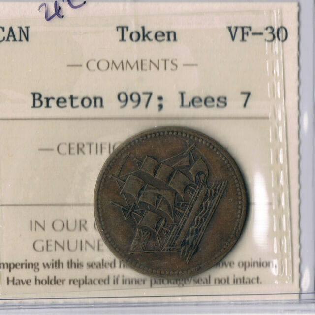PEI Ships Colonies and Commerce  ICCS VF30  (Lees 7)  PE10-7,  BR997