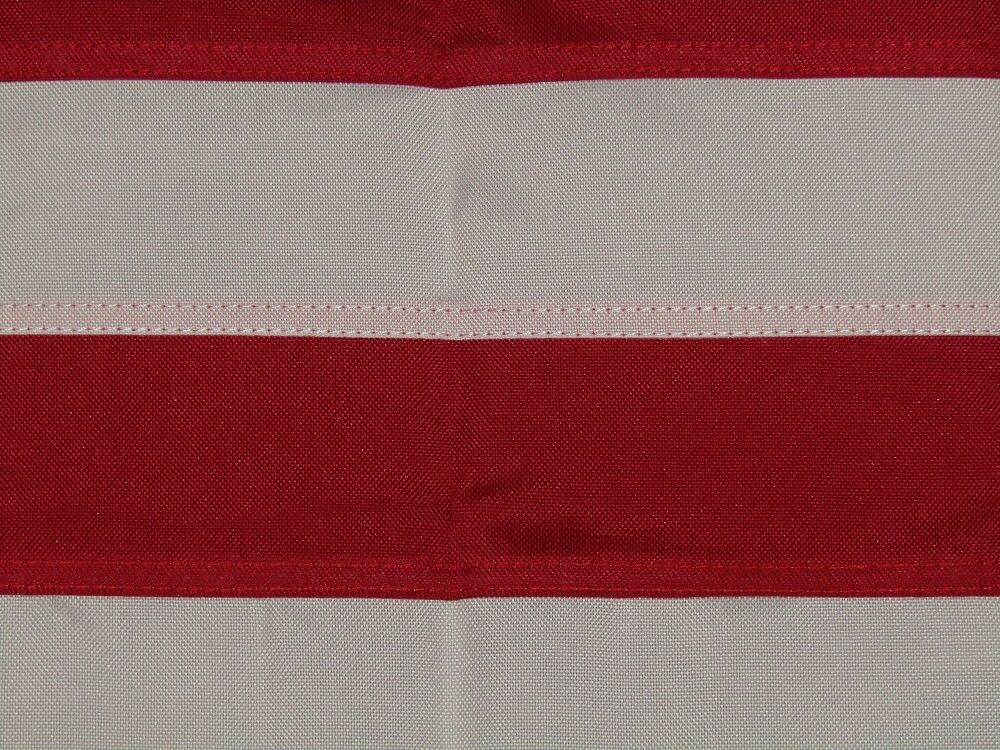 3x5 3x5 3x5 Embroiderot Sewn American 48 Star Linear Synthetic Cotton Flag 3'x5' 3 Clips 21b202