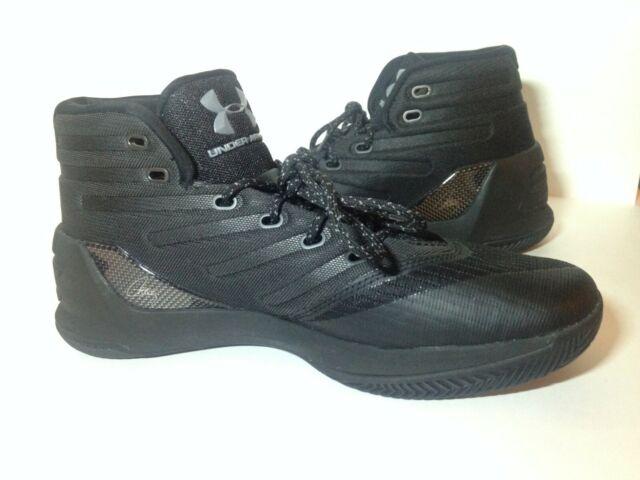Under Armour Mens Curry 3 Basketball Shoes Black Carbon Orange UA 1269279 357