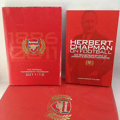Arsenal The Official Membership Yearbook 2011-12 & Herbert Chapman on Football