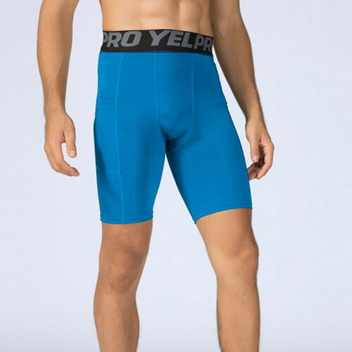 Men/'s Compression Shorts Sports Quick Dry Tights Shorts Trunks with Phone Pocket