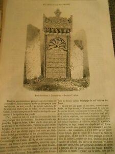Humble Les Sculpture Musulmanes à Constantinople Tombe Gravure Print 1871