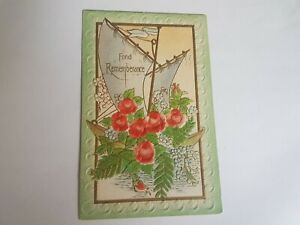 Greeting-Postcard-Vintage-Fond-Rememberance