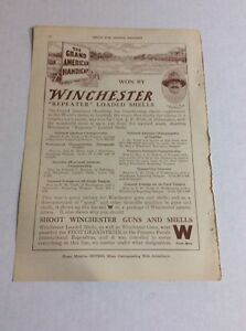 """1916 MAGAZINE AD #A3-156 - Winchester """"Repeater"""" Loaded Shells"""
