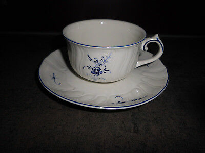 Alt Luxemburg Villeroy /& Boch Teetasse Vitro Porzellan Untertasse f