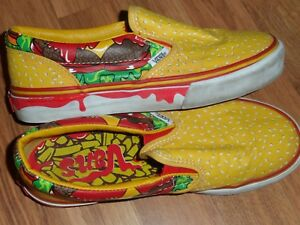 vans slip on hamburger