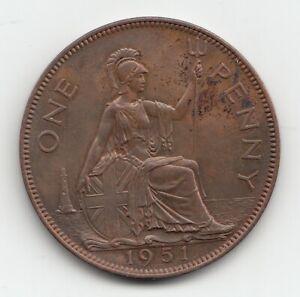 Very Rare George VI 1951 Proof Penny 1d