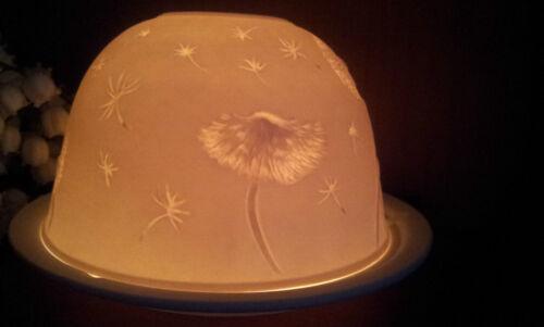 Porzellan Windlicht Lithophanie Pusteblume Löwenzahn Wiesenblume Dotterblume NEU