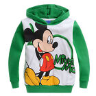 Kids Girls Boys Mickey Mouse Sweater Sweatshirt Hooded Casual Jumper Tops Coat