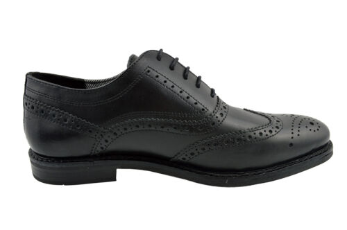 $185 RED TAPE Black Leather Wingtip BRADSHAW Dress Lace Up Oxfords Mens Shoes
