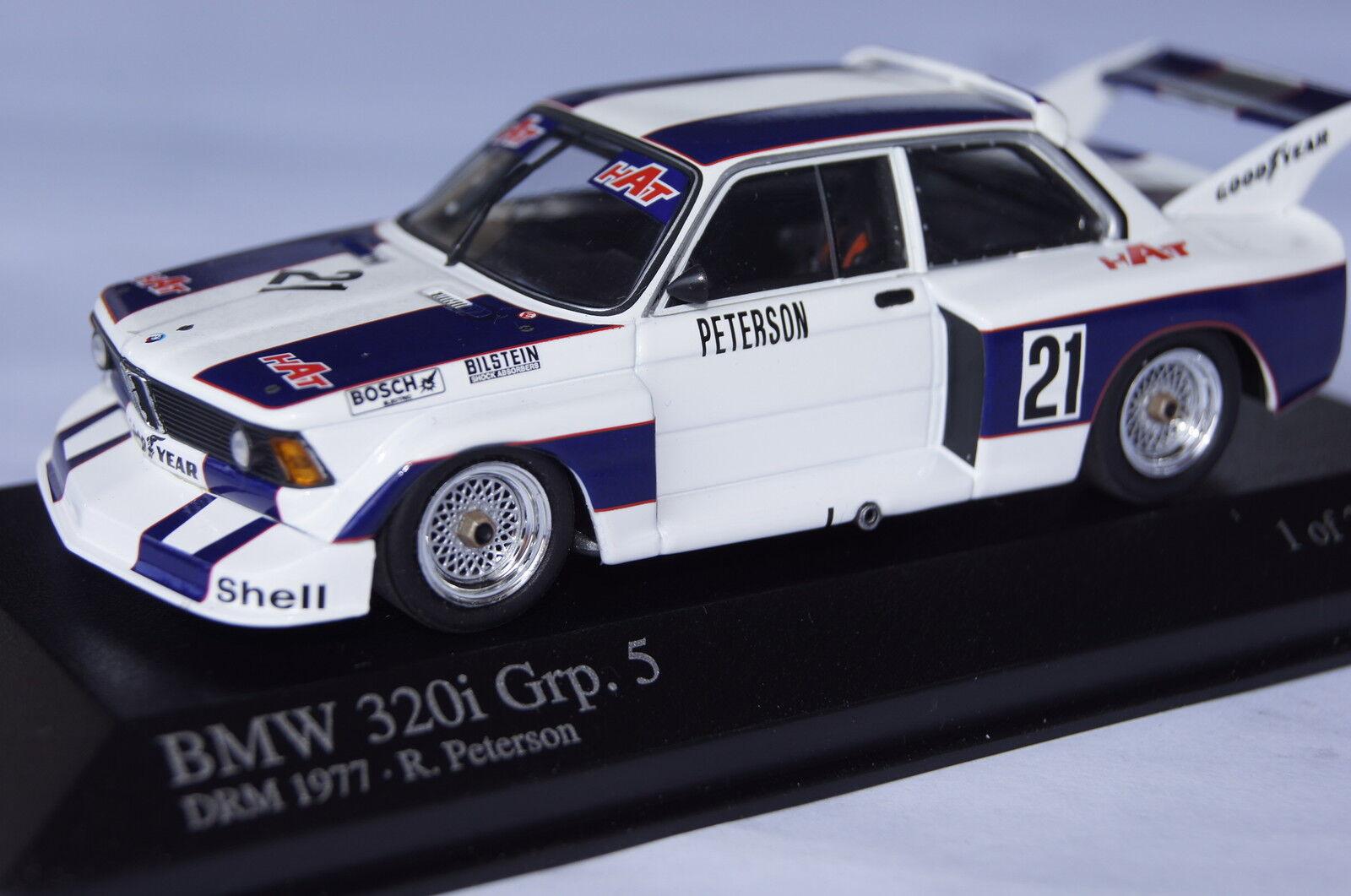 BMW 320i Grp.5 DRM 1977 R.Petersen 1 43  Minichamps neu & OVP 400772321