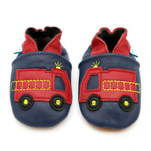 Dotty-Fish-Soft-Leather-Baby-amp-Toddler-Shoes-Fire-Engine-0-6-Month-3-4-Year