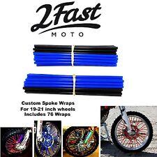 2FastMoto Spoke Wrap Kit Blue Black Wraps Covers Skins Spokes Rims Yamaha
