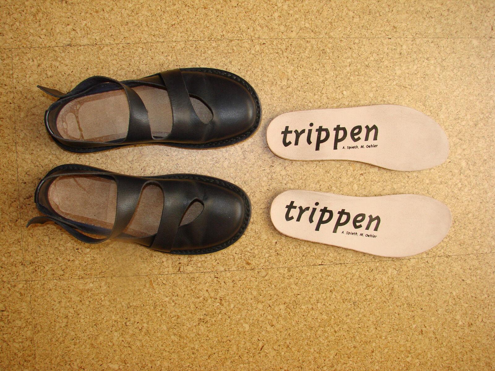 TRIPPEN Ballerina - dunkelblau - Gr. - 36 - wenig getragen - Gr. Wechselfussbett neu b89676