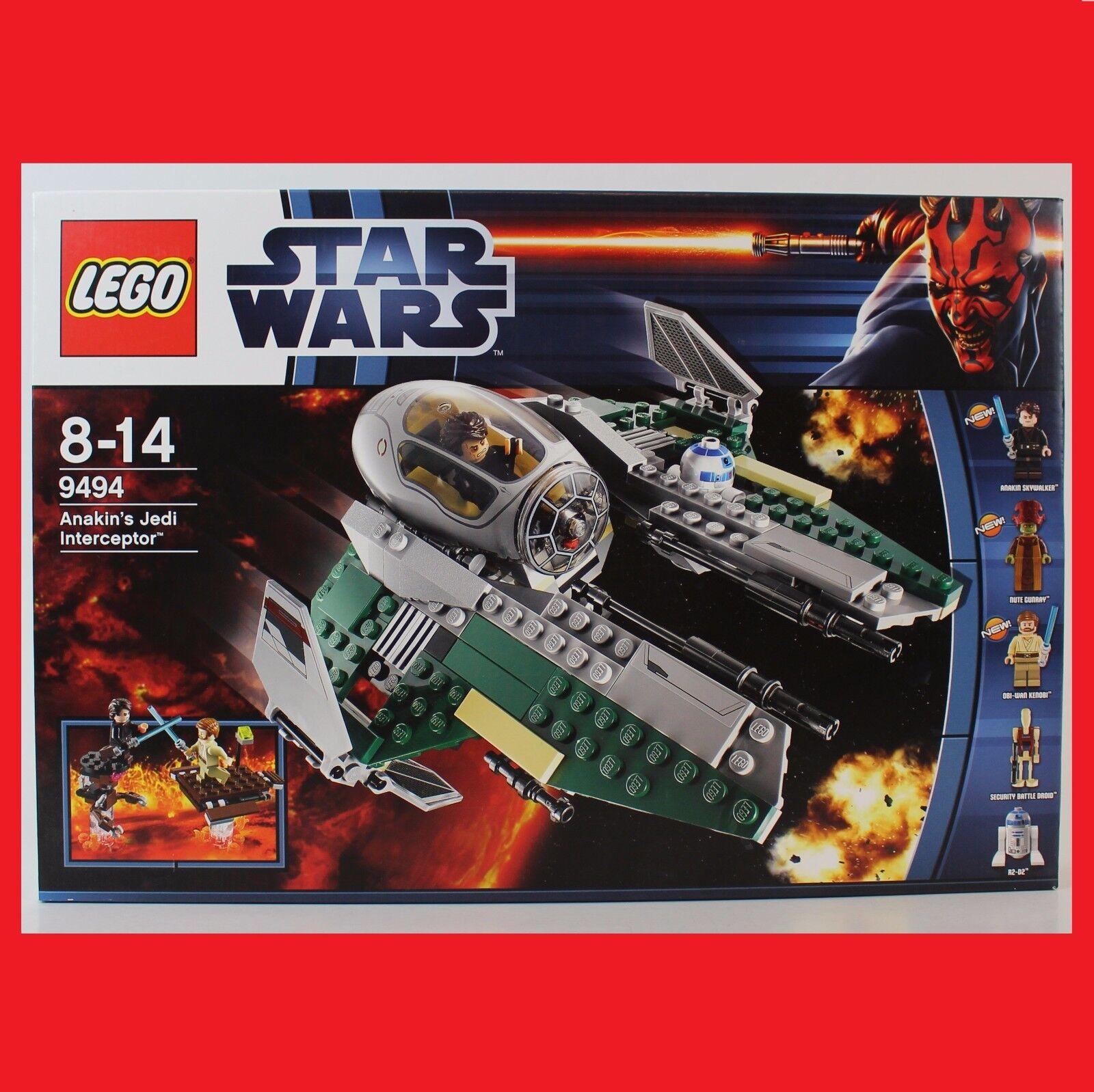 LEGO 9494 Star Wars Anakin's Jedi Interceptor past zu 75038 75135 selten EOL Neu