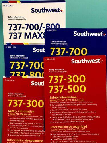 5 SOUTHWEST SAFETY CARDS SET