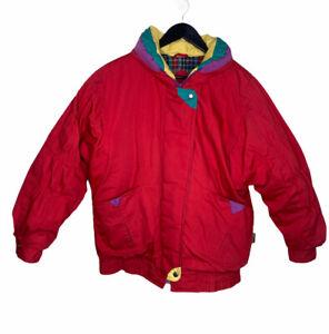 Vintage Izzi Ski Jacket 80's 90's Retro Warm Design Women's Size M