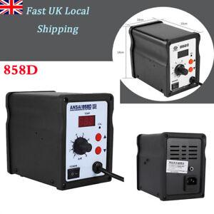 Durable LCD 858D 220V SMD Soldering Resolding Rework Station Hot Air Gun Tool 663862704648