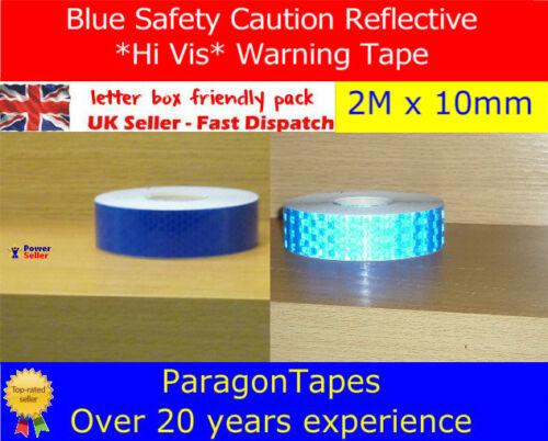 Blue Reflective Hi Vis Intensity Safety Tape Caution Sticker Bike Quad Trials