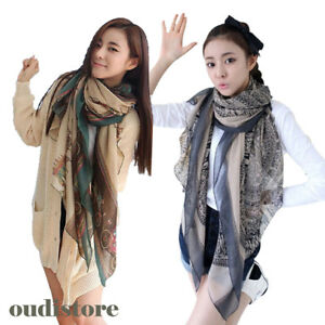 b176d5bcbbfbe Ladies Printed Large Shawl Stole Scarves New Fashion Women Soft Long ...