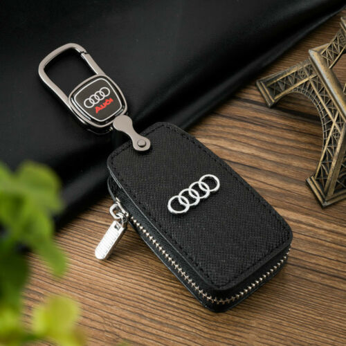 High quality Car Remote Key Chain Holder Case Bag With Window Fit For Audi Auto