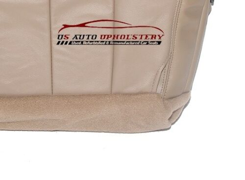 Driver Side Bottom Replacement Leather Seat Cover TAN 00 Ford F150 Lariat