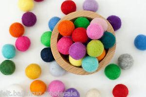 Nursery Pom Pom Felt Balls Bright Color Mix 2 cm Craft Beads Garland Making