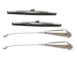 Jaguar-2-4-ltre-amp-304-Ltre-19571960-A-Pair-Of-Wiper-Blades-And-Arms
