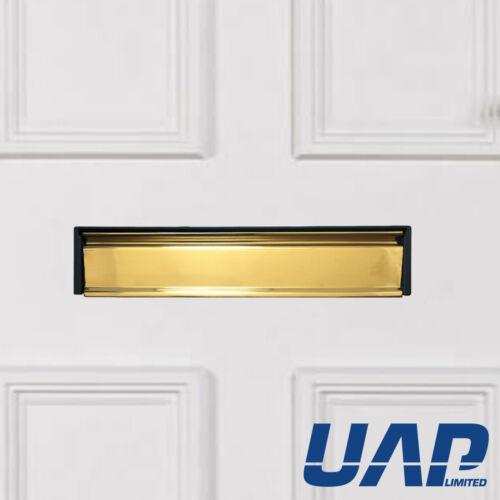 Sécurisé par design 12 pouces anodisé or boîte aux lettres pour portes épais 20-40mm
