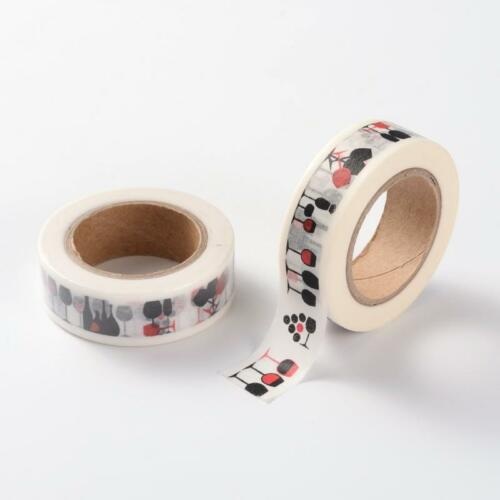 Wine Tape Rolls Decorative Sticky Masking Adhesive Drink Scrapbooking