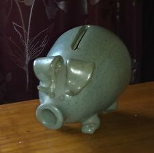 Vintage Stone wear piggy bank....... Farmyard animals collectable pigs......