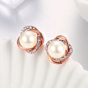 Image Is Loading Elegant 18k Rose Gold Plated Cer Of Pearl