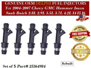 3.5L 3.7L Reman OEM Delphi 1 Fuel Injector 04-07 Chevy Colorado 2.8L 2.9L I4
