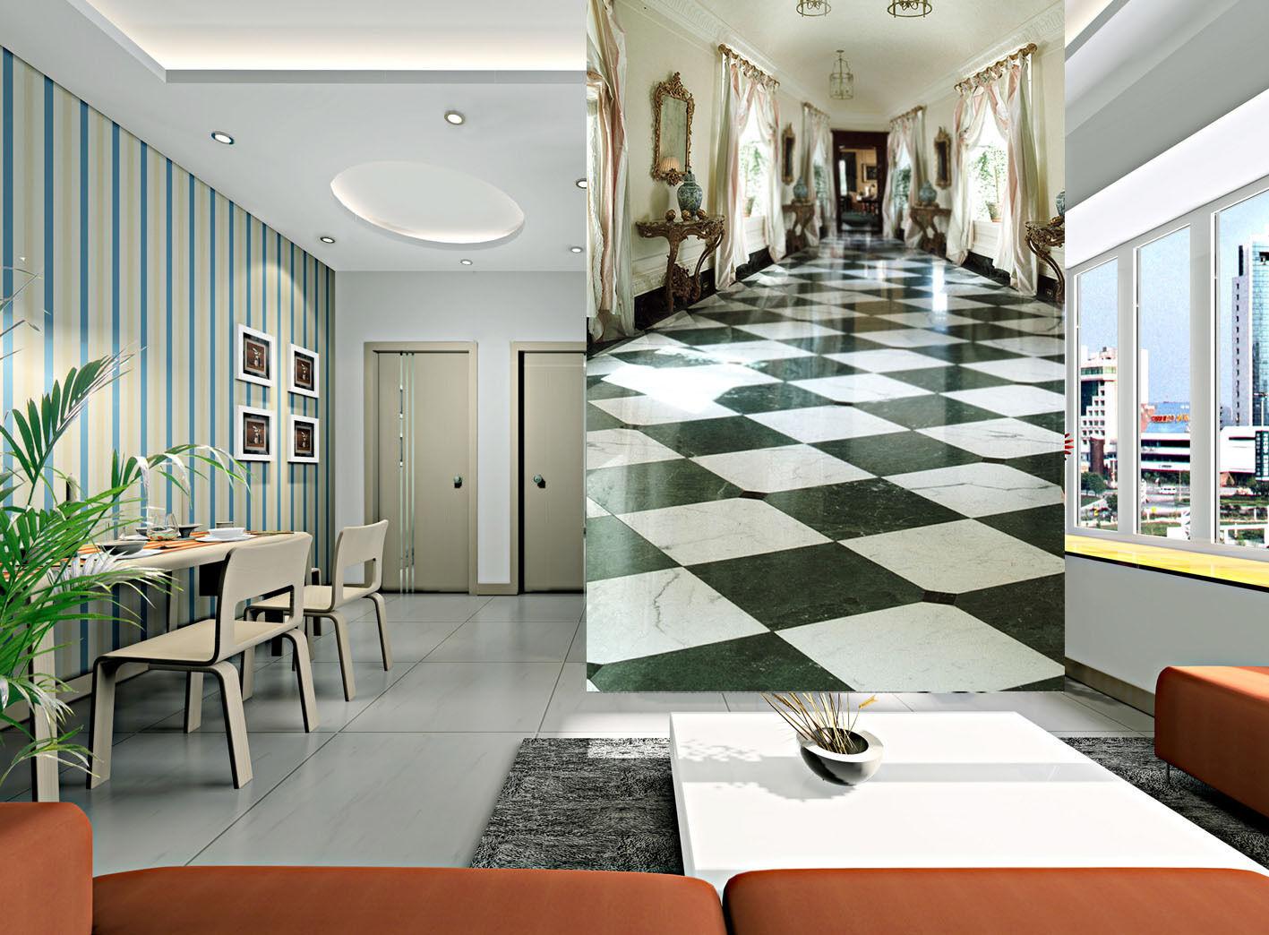 3D Pulito Sala 4 Parete Murale Foto Carta da parati immagine sfondo muro stampa
