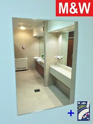A3//A4 Mirror Tiles Glass Wall Stickers Self Adhesive Reflective Bathroom Mosaic