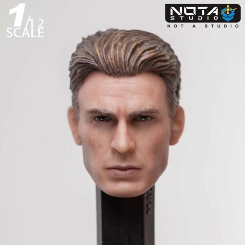 "1//12 Nota Studio Captain America Model Toy For 6/"" Male Action Figure Accessories"