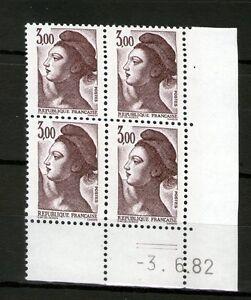 TIMBRE-N-2243-NEUF-XX-LUXE-COIN-DATE-DU-3-6-82-LIBERTE-DE-GANDON-2