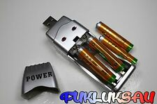 "4 PILES ACCUS RECHARGEABLE AAA LR03 1.2V 1600mAh Ni-Mh + CHARGEUR USB "" POWER """