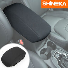1pc Car Center Console Armrest Box Cover Pad For Jeep Cherokee 2014 2019 Black Fits Jeep Cherokee
