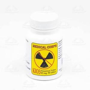 Potassium Iodate Pot 85mg 90 Tablets Medical Corps Kio3