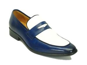Handmade-Leather-Men-039-s-two-tone-Loafers-Men-Shoes-Custom-leather-men-shoes