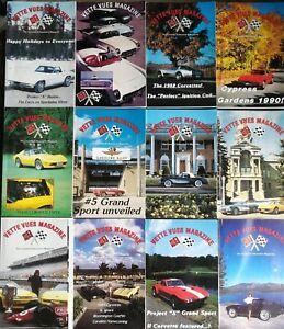 Brillant Vette Vues Revue 1990 Corvette Enthusiast's - The Complete Year Toutes 12 Issues Garantie 100%